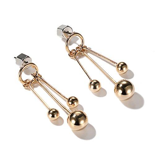 Frauen Einfache Earing Kleine Ohrringe Für Mädchen Süße Ohrstecker Ohrring Bankett Box,Gold-L (Frauen Für Schmuck-box Earing)