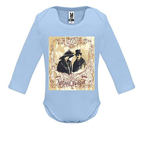 Body bébé - Manche Longue - Antique Fashion - Bébé Garçon - Bleu - 18MOIS