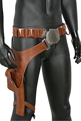 Han Solo Gürtel mit Holster Update-Version Deluxe Cosplay Kostüm Replik für Erwachsene Herren Verrücktes Kleid Zubehör (Verrückte Star Wars Kostüme)