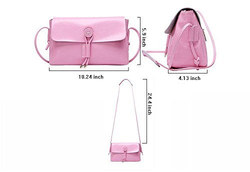 Yacn a tracolla da donna in pelle, borse Messenger bags tracolla per bambine, misura piccola, con cerniera & Candy con cerniera) (blu)