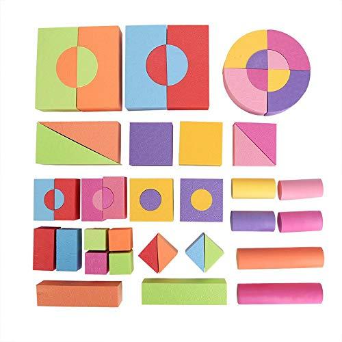 eiche Ziegel BAU Spielzeug Kreative Pädagogische Eva Schaum Bausteine   Mini Flexible Edu Blocks Kind Lernen Intelligente Spielzeug Geschenk für Kleinkinder ()