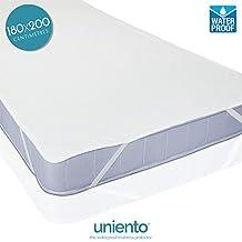 Protector de colchón impermeable, top de algodón, (OEKO-TEX®   OEKO-TEX® Standard 100) (180 cm x 200 cm)