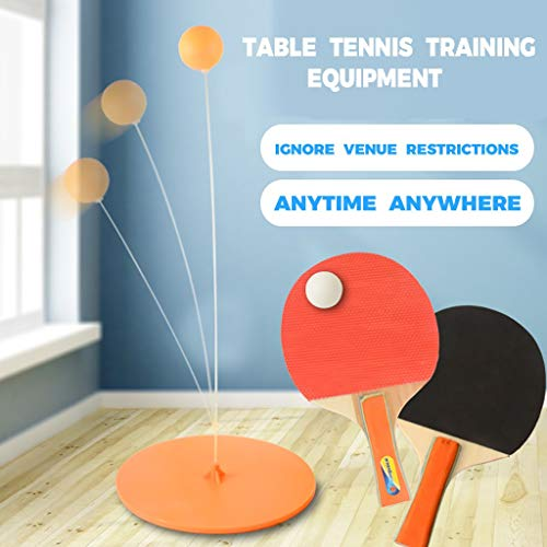 CHshe- Kinder Lernspielzeug - Tischtennis Sport Trainer Spielzeug Set - Elastischer Soft Shaft Tischtennisball & Tischtennisschläger Set für Kinder/Jugendliche/Mittelalter/Alter