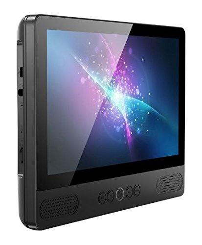 Reflexion DVDTAB-917 portabler DVD-Player mit 9 Zoll Android Tablet (Touch-Screen, HD Panel, WiFi, Bluetooth, USB, SD, UKW, GPS) mit ausklappbarem Standfuß, Mikrofon, 12 Volt Kfz Adapter
