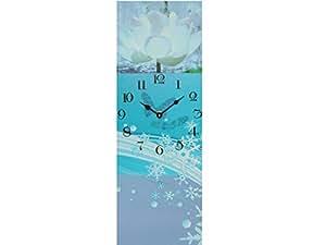 Sunny Toys 13425 Horloge murale avec trotteuse En bois Bleu Env. 20x60 cm