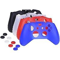 Mudder 4 Colori Silicone Custodia Protettiva per Xbox One Controllore con 4 Paia di Manopole Corrispondenti per Pollice