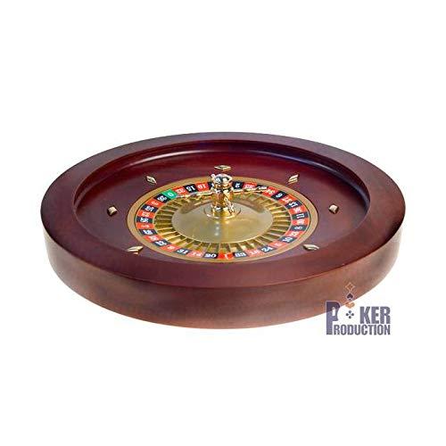 AUTRES Roulette française de Casino en Acajou Simple 0 - 45 cm de diamètre - Centre en métal plaqué Nickel - avec 2 Billes