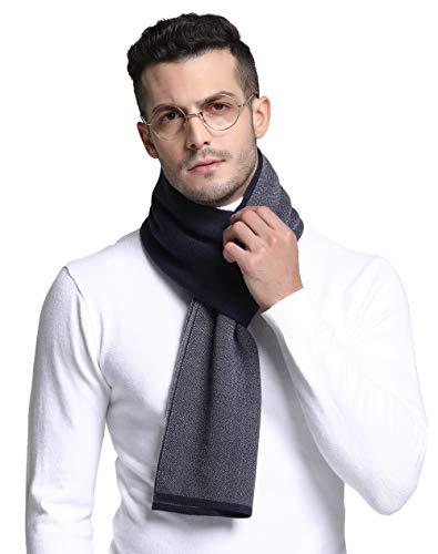 RIONA Australian Merino Wolle Herren Strick Schal Winter Business Langschal Weiches Warmes Kaschmir Fühlen mit Geschenkbox -