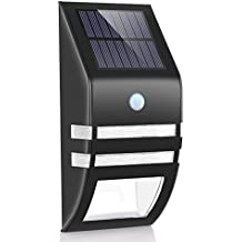 Luces Solares de Pared, Foco Solar Exterior Impermeable con Sensor de Movimiento,Sensor-Detector Activado Lámpara Exterior para Jardín Patio Camino de Entrada Escaleras,Lluminación de Exterior y Lluminación de Seguridad [Clase de eficiencia energética A+]