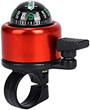 Red Aluminum Alloy Bicycle Bell Road Mountain Bike Compass Bell Sound Bike Handlebar Ring Horn