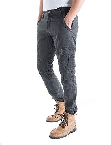 Timezone Huntertz Cargo Pants, Pantalon Homme Gris - Grau (blue graphite 9033)