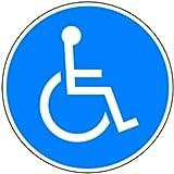 Aufkleber Rollstuhlfahrer 100mm