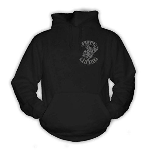shirtmachine Legion Walhalla Hoodie, Schwarz, M