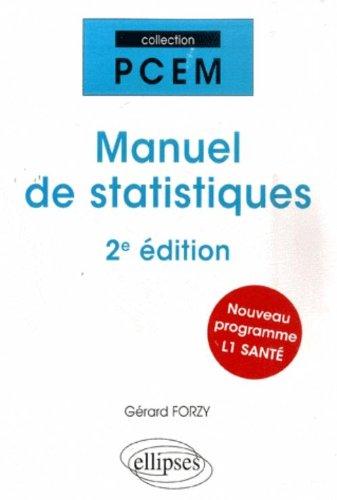 Manuel de statistiques par Gérard Forzy