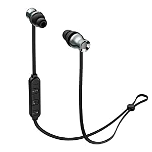 AUKEY Bluetooth Headphones, Wireless Magnetic Earbuds with Built-In Remote & Microphone for iPhone, Samsung, and more
