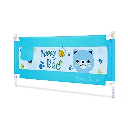 Barrières de lit- Protection de Chute de bébé de rambarde de lit, lit Universel de Rail de côté de lit des Enfants d'ascenseur Vertical (Couleur : Bleu, Taille : 2.0M)
