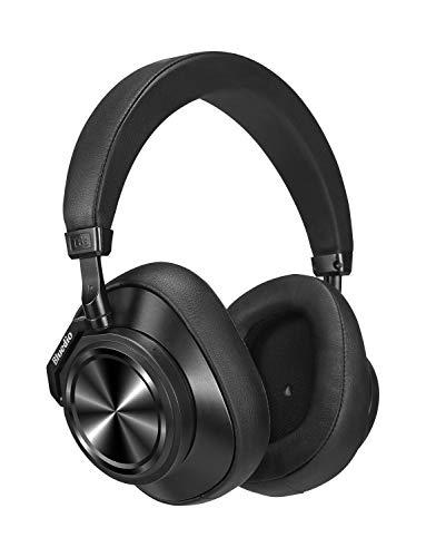 Bluedio T6S Cuffie Bluetooth Over Ear con Microfono, Cuffia con Cancellazione Attiva del Rumore Controllo Vocale Supporto Servizio Cloud, Cuffie nero