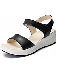 YTTY Fashion Velcro Sandalen Komfort All-Match-Schuhe Rutschfeste Tragen Sandalen  Wei?