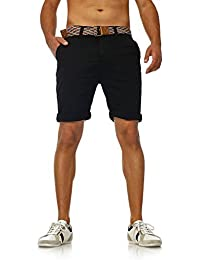 Shorts Bermuda Herren kurze Hose Männer Bermudashorts Chino Shorts mit Gürtel - fällt kleiner aus