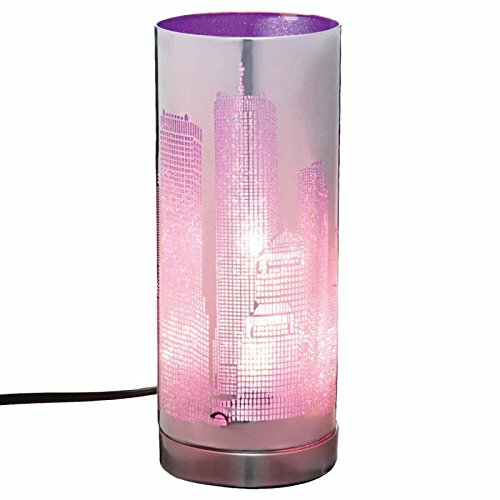 Paris Prix - Lampe Cylindrique Touch NYC Violet