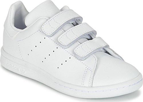 adidas Unisex-Kinder Stan Smith CF C Fitnessschuhe, Weiß Ftwbla, 28 EU -