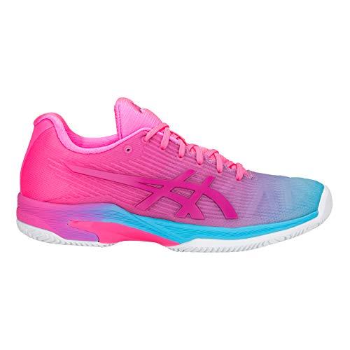 ASICS Donna Solution Speed FF Le Clay Scarpe da Tennis Scarpa per Terra Rossa Rosa - Turchese 44