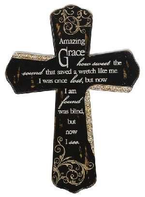 Wall Cross-Amazing Grace (10