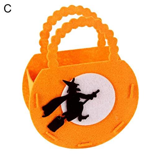 Kürbis Hexe Kostüm Sexy - Steellwingsf tragbare Halloween Kürbis Form Candy Bag Lagerung Eimer Trick oder behandeln Dekor - Hexe *