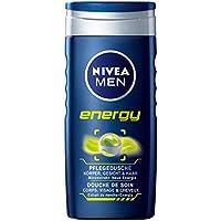 Nivea Men, Gel doccia Energy, 4 pz. da 250 ml