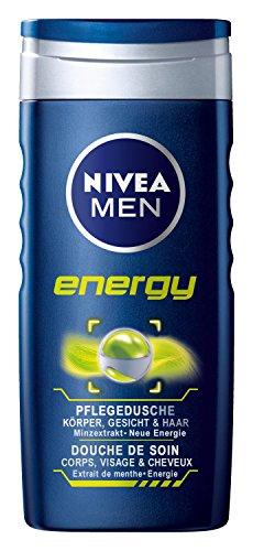 Nivea Men, Gel doccia Energy, 4 pz. da 250 ml