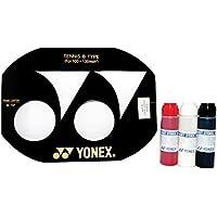 Yonex Esténcil de cuerda para raqueta de tenis (100–130pulgadas) y YonexTinta para esténcil, Yonex Black Stencil Ink