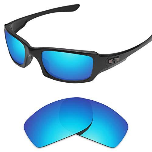 sunglasses restorer Ersatzgläser für Oakley Fives Squared 3.0 (Polarisierte Ice Blue Linsen)