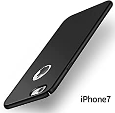 Kaira [Full Coverage] All Sides Protection 4 Cut 360 Degree Sleek Rubberised Matte Hard Case Back Cover for Apple iPhone 7 (Black)