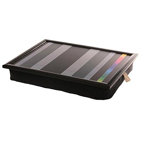 Andrew´s Knietablett Laptray mit Kissen Tablett für Laptop Colour Strip schwarze Streifen
