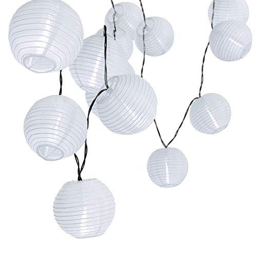 LED Solar Laternen String Lights, 20 LED 4.8M/15.7ft Wasserdicht Außen im Freien dekorative Beleuchtung für Garten,Hof,Zäune, Terrasse, Hochzeit, Weihnachtsbaum - Warm Weiß