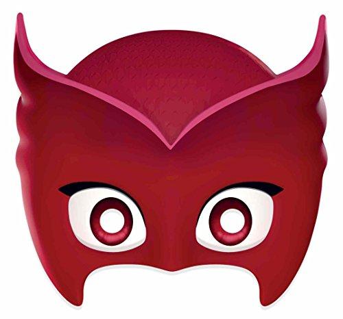 Pj Kostüm Owlette Masken - empireposter PJ Masks - Owlette - Papp Maske, aus hochwertigem Glanzkarton mit Augenlöchern, Gummiband - Größe ca. 30x20 cm