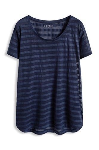 Esprit Sports 016ei1k010 - E-dry Light Functional T-shirt - T-shirt de sport - Femme Bleu - Blau (NAVY 3 402)
