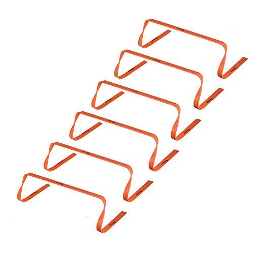 Kosma 6er Pack Agility Training Fitness Flache Hürden   Multi-Sport Speed Trainingshilfe mit Tragegriff: Größe 6 Zoll - Farbe: Orange -