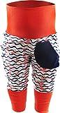 KLEINER FRATZ Baby Kinder Pumphose Hose Mädchen Babyhose Jungen Pants (128-140, Anker rosa/Welle Navy/Bund orange)