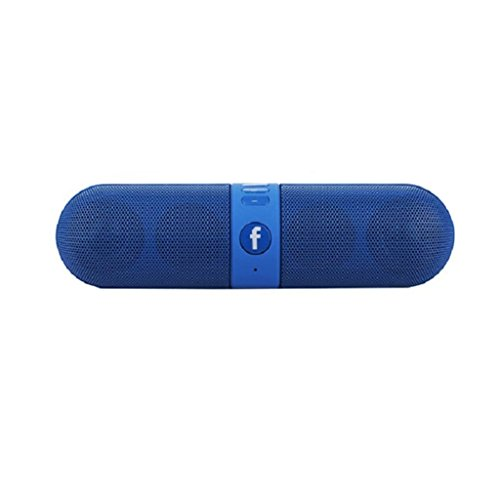 JIYANSHI Mini Bluetooth Multimedia Speaker Wireless Speaker (BLUE) System With SD Card/Pen Drive (Capsule)Compatible for Xiaomi Redmi Note Prime