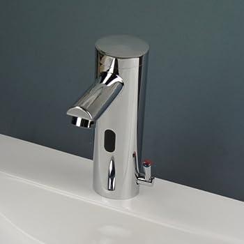 Infrarot Sensor Wasserhahn Bad Waschtischarmatur Waschbecken Mischbatterie Chrom