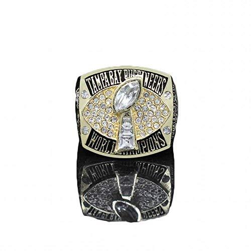 GJZ Sportfans Kollektion Champion Rings Fans Herren Memorial Rings High-End Kollektionen Fans Alloy Rings Herren Accessoires Vintage Accessoires, Gold, 11