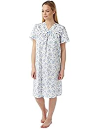 8d7efe3b7e Ladies Incontinence Open Back Floral Poly Cotton Hospital Nightdresses  Nightie By Lady…