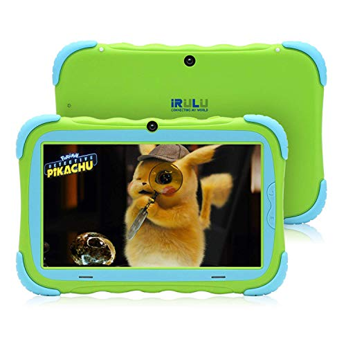 tablet irulu 【UPGRADED】iRULU 7 inch Android 7.1 Kids Tablet IPS HD Screen 1GB/16GB Babypad Edition PC with Wifi and Camera and Games Google Play Store Bluetooth Kids-Proof Case GMS Certified with Charger (Green)