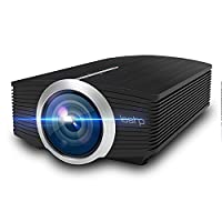 LCD Projector, LESHP Portable Mini Multimedia Projector 1080P Ideal for Home Theatre Entertainment Games Parties