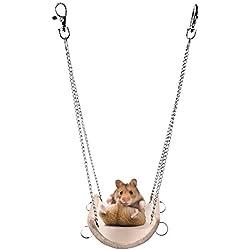 Balancoire Jouet de Hamster Lapin Joux d'Escalade pour Souris Oiseaux Perroquet Jouets Animaux Balançoire pour Awhao