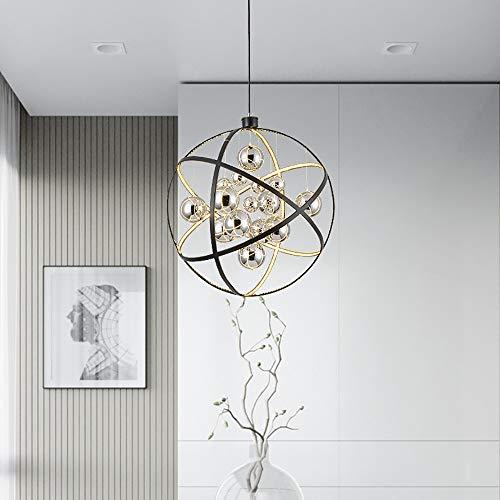 DAMAI STORE Restaurant Persönlichkeit Metallkugel Globus Kronleuchter Kreative Bar Tischlampe Schlafzimmerdekoration Kronleuchter 80 * 80cm (Size : D50cm)