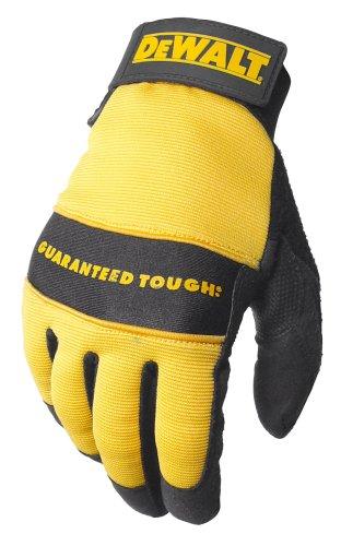 Dewalt alle Zweck Kunstleder Palm Spandex Rückseite Klettverschluss Handgelenk Arbeit Handschuh, DPG20M -