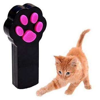 UEETEK Patte Style chat Catch l?Interactive LED lumière pointeur exercice Chaser jouet animal gratter outil de formation(Bleu)