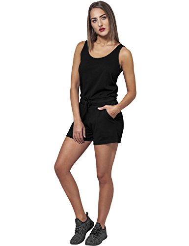 Urban Classics Damen Jumpsuit Ladies Melange Hot, Schwarz Black 825, Small - 3